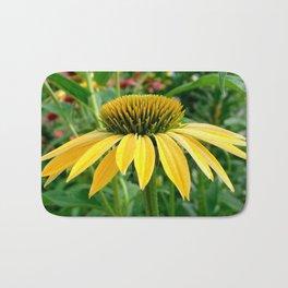 Yellow Echinacea/Coneflower Sideview Bath Mat