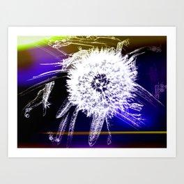 The Wildflower Called Dandelion Art Print