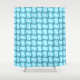abstract pattern in metal Shower Curtain