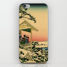 Japanese teahouse after the snow iPhone Skin