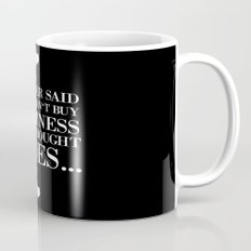 happiness black Mug
