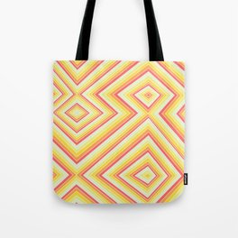 Bright Sunshine - Red, Orange and Yellow Lines - Illusion Art - 57 M Ave Tote Bag