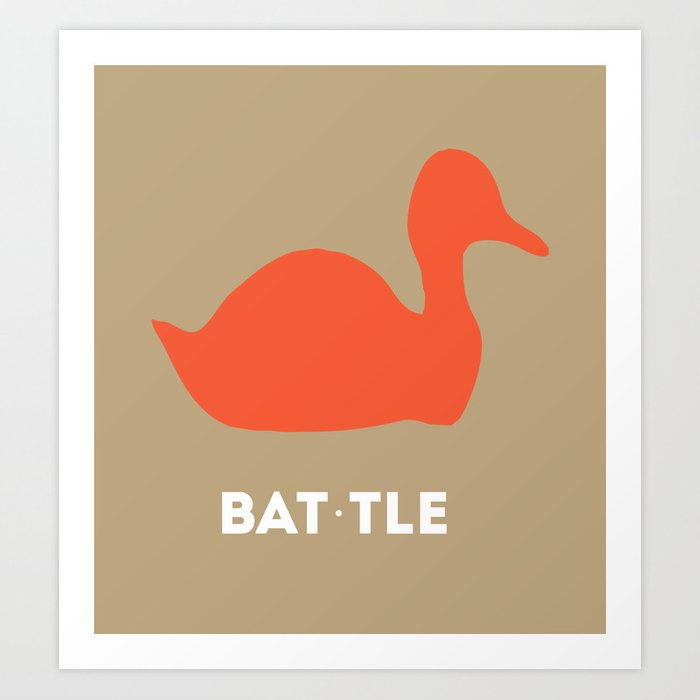 NHL Minimalist Team Poster- Anaheim Ducks Art Print
