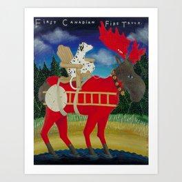 First Canadian Fire Truck Art Print