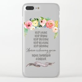 Elder Jeffrey R. Holland - Heaven is Cheering You On Clear iPhone Case