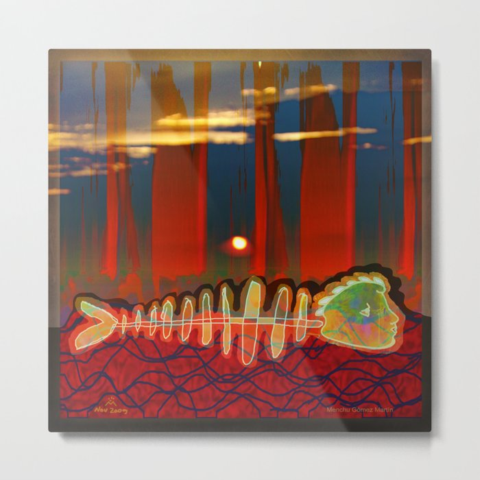 Dry Swimming  / Trapped Metal Print
