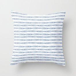 Watercolor Indigo Arrows Throw Pillow