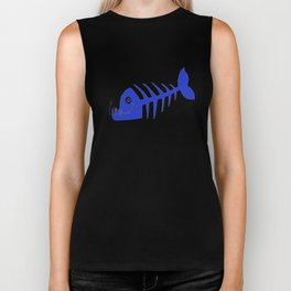 Pirate Bad Fish blue- pezcado Biker Tank