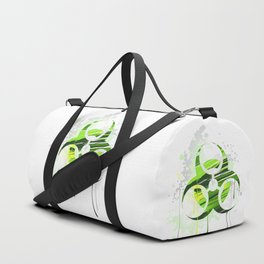 Symbol of Biological Danger Drawn with Paint Duffle Bag