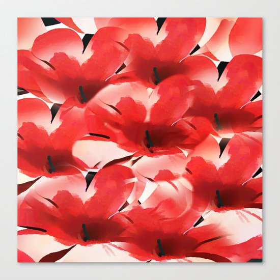 Red Poppies - Painterly Canvas Print