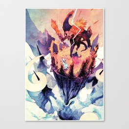 The Demon and the Wizard Canvas Print