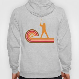 Retro Style Baseball Player Vintage Hoody