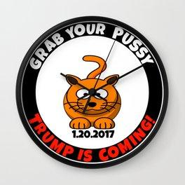 Grab Your Happy Cat Wall Clock