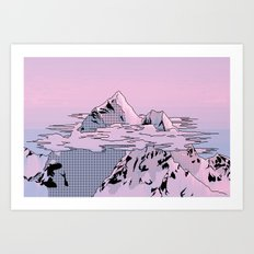 Lavender Sunset Art Print