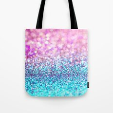 Pastel sparkle- photograph of pink and turquoise glitter Tote Bag