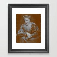 All hail the King! Framed Art Print