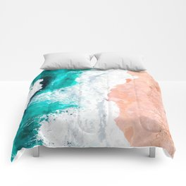 Beach Illustration Comforters