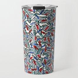 Busy Camouflaged Action Man by Nettwork2Design - Nettie Heron-Middleton Travel Mug