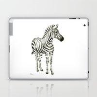 Zebra Watercolor Baby Animals Laptop & iPad Skin