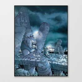 Out for a little walk in the moonlight… Canvas Print