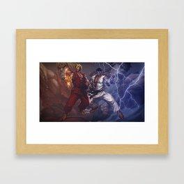 Tag team Framed Art Print