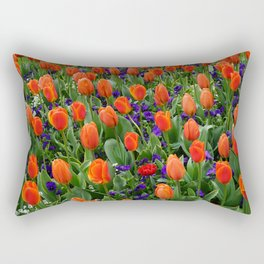 Tulip Field 2 Rectangular Pillow