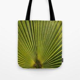 Green Plam Leaf Tote Bag