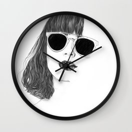 Hair Study #2 Wall Clock