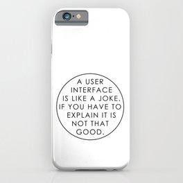 Programmer - UI / UX Designer iPhone Case