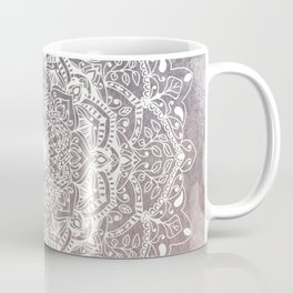 NATURE DETAILS MANDALA IN GRAY AND PINK Coffee Mug