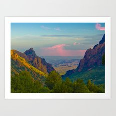 Chisos Mountain Park Big Bend Texas Art Print