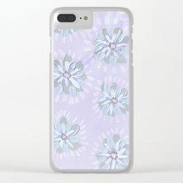 Amethyst Petal Rose Clear iPhone Case