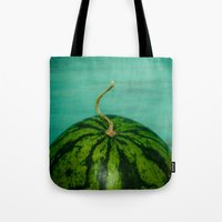 watermelon Tote Bags featuring Watermelon by Olivia Joy StClaire