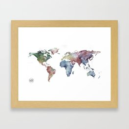 Lápiz Nómada World map Framed Art Print