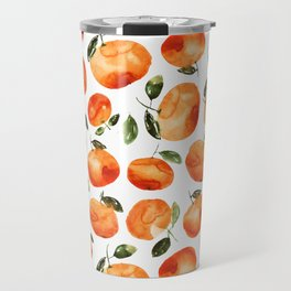Watercolor tangerines Travel Mug