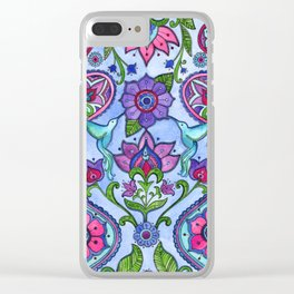 Hummingbird Paisley Clear iPhone Case