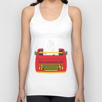 typewriter Tank Tops featuring Typewriter by EinarOux