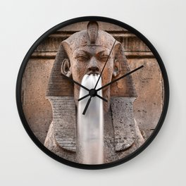 Sphinx Fountain Wall Clock