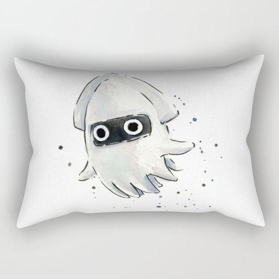 Blooper Squid Mario Watercolor Geek Art Rectangular Pillow