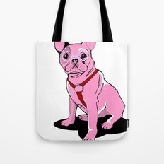 Frenchie_Pink Tote Bag