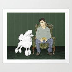 Meet the Poodle Art Print