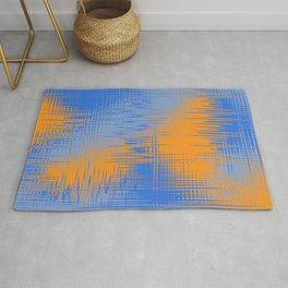 Orange Blue Design Rug