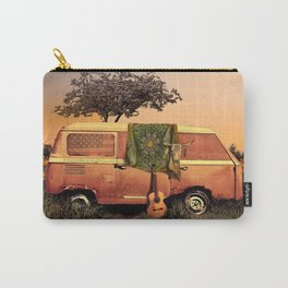 summer sunset landscape with skull and guitar Carry-All Pouch