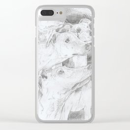 Shadow Dogs Clear iPhone Case