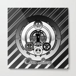 One Love (Black) Metal Print