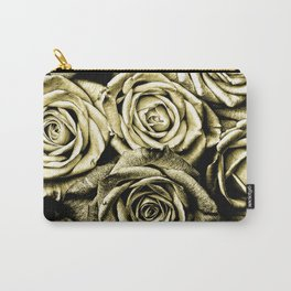 Vintage Gold Roses Carry-All Pouch