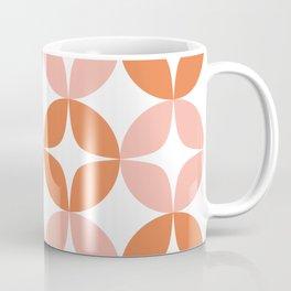 Mid Century Modern Motif Pattern in Burnt Orange and Blush Coffee Mug