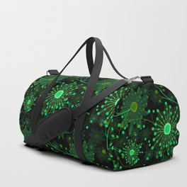 Black and green abstract pattern . Duffle Bag
