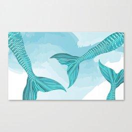 Mermaid Tails Canvas Print