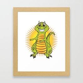 Floss Dance Move T-Rex Framed Art Print
